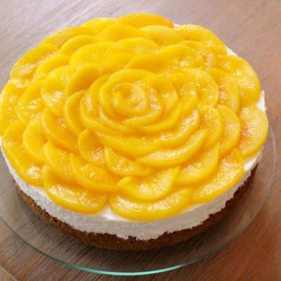 Bánh cheesecake đào